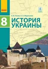 История Украины 8 класс Гисем, Мартынюк 2016